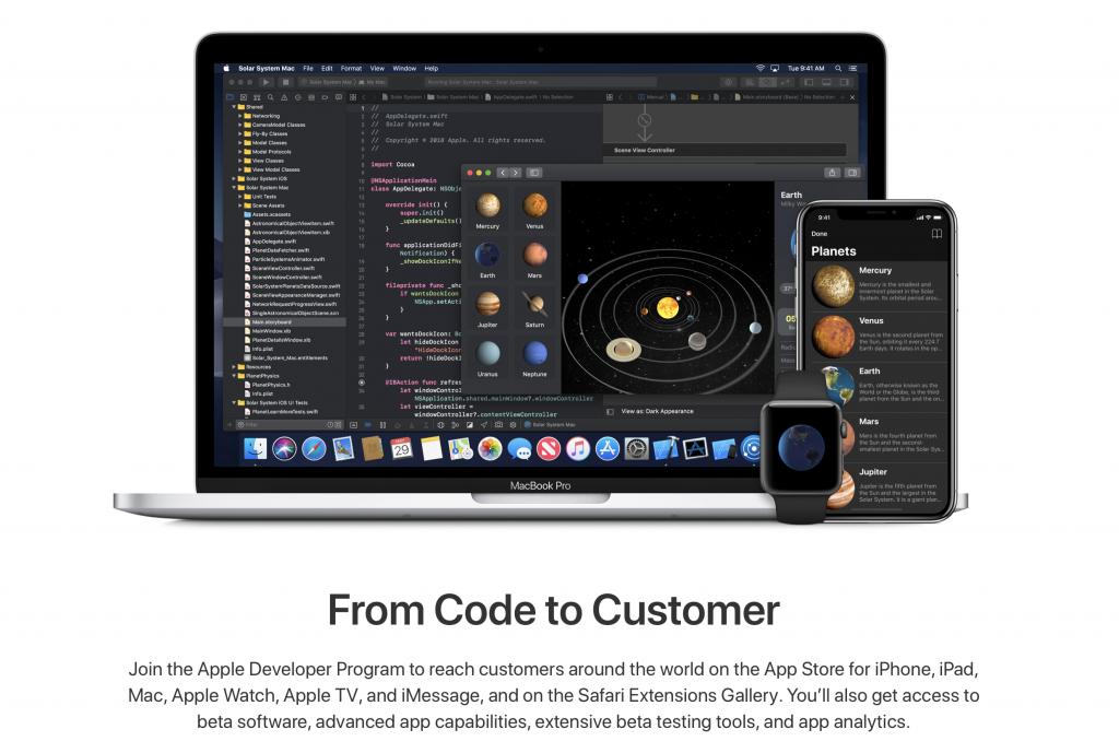 Crear una cuenta de desarrollador de Apple